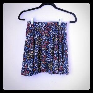 Juniors So Navy Blue Floral Skater Skirt
